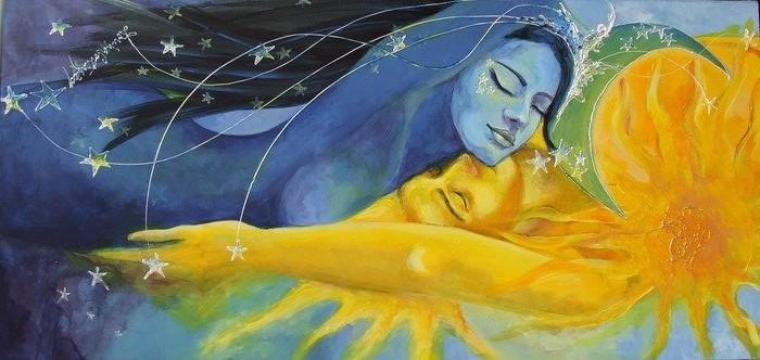 couple lune soleil